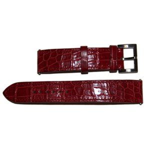 Hermes Paris 16mm Red Crocodile Porosus Watch Band